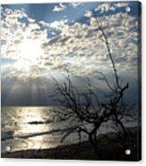 Sunrise Prayer On The Beach Acrylic Print