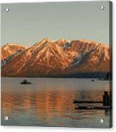 Sunrise Reflections On Colter Bay Acrylic Print