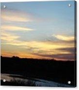 Sunrise River Three Acrylic Print