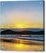 Sunrise Seascape And Crepuscular Rays Acrylic Print