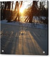 Sunrise Shadows On Ice Acrylic Print