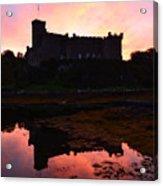Sunrise Silhouetting Dunvegan Castle S Acrylic Print