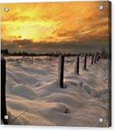 Sunrise Snow Fields Acrylic Print