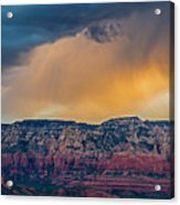 Sunrise Storm Over Sedona Acrylic Print