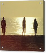Sunrise Strolling Acrylic Print