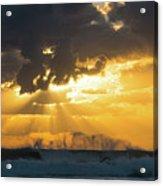 Sunrise Surf Spray Delray Beach Florida Acrylic Print