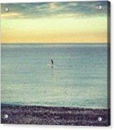 Sunrise Surfing Acrylic Print