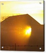 Sunrise Though Barn Acrylic Print