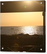 Sunrise Through The Pavilion Acrylic Print