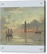 Sunrise To Painting By Frederick C. Sorensen, Anonymous, After Carl Frederik Sorensen, 1868 - 1876 Acrylic Print