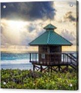 Sunrise Tower At The Beach Acrylic Print