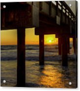 Sunrise Under The Pier  Acrylic Print
