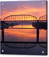Sunrise Walnut Street Bridge 2 Acrylic Print by Tom and Pat Cory