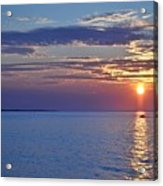 Sunrise With Boat Acrylic Print