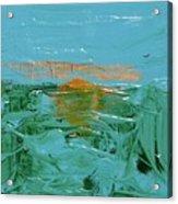 Sunrise With Gulls Acrylic Print