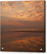 Sunrise With Reflective Symmetry At Hunting Island Acrylic Print