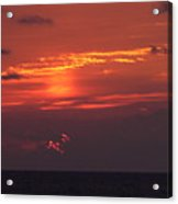 Sunrising Out Of Clouds Acrylic Print