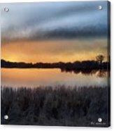 Sunrise On A Frosty Marsh Acrylic Print