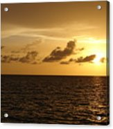 Sunset - Gulf Of Mexico Acrylic Print