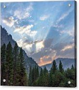 Sunset 1 Yosemite  Acrylic Print