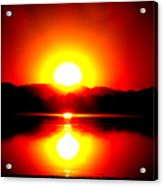 Sunset 3 Acrylic Print by Travis Wilson
