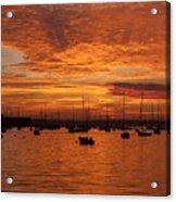 Sunset 4th Of July Acrylic Print