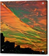 Sunset Above City After A Thunder-storm Acrylic Print