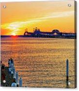 Sunset Across The Chesapeake Acrylic Print