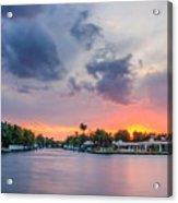 Sunset Across The Gulf Stream Acrylic Print