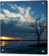 Sunset Along The Mississippi River Acrylic Print