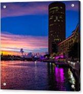 Sunset Along The Riverwalk Acrylic Print