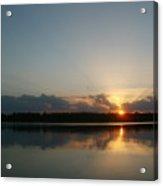 Sunset And Birds Acrylic Print