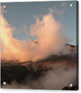 Sunset And Clouds Over The Summit Acrylic Print