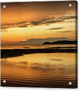 Sunset And Reflection Acrylic Print