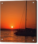 Sunset And Silhouette Acrylic Print