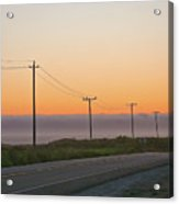 Sunset And Telephone Wires Acrylic Print