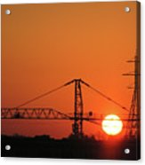 Sunset And Tower Crane Acrylic Print