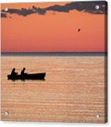 Sunset Anglers Acrylic Print