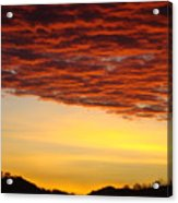 Sunset Art Prints Canvas Orange Clouds Twilight Sky Baslee Troutman Acrylic Print