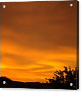 Sunset Art Prints Orange Glowing Western Sunset Baslee Troutman Acrylic Print