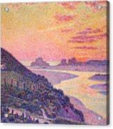Sunset At Ambleteuse Pas-de-calais Acrylic Print