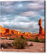 Sunset At Arches National Park 16x9 Acrylic Print