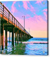 Sunset At Avila Beach Pier Acrylic Print