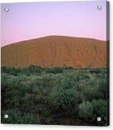 Sunset At Ayre's Rock Acrylic Print