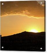 Sunset At Barcelona Acrylic Print