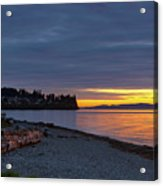 Sunset At Birch Bay State Park Acrylic Print