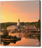 Sunset At Boothbay Harbor Acrylic Print