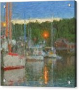 Sunset At Boothbay Harbor Maine Acrylic Print