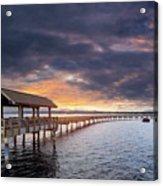 Sunset At Boulevard Park In Bellingham Washington Acrylic Print