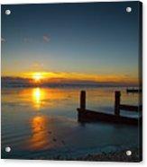 Sunset At Brackesham Bay ,west Sussex ,england  Acrylic Print